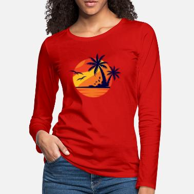 Vacation Sunset, Summer, Vacation, Relax - Women's Premium Longsleeve Shirt