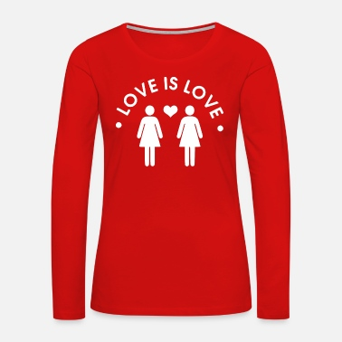 Porn love is love white - Women's Premium Long Sleeve T-Shirt