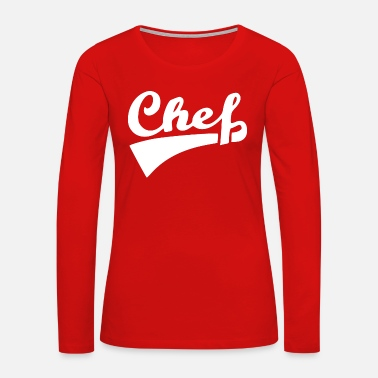 Slave chef front white - Women's Premium Long Sleeve T-Shirt