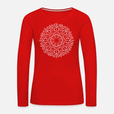 Spirit mandala 46 white - Women's Premium Long Sleeve T-Shirt