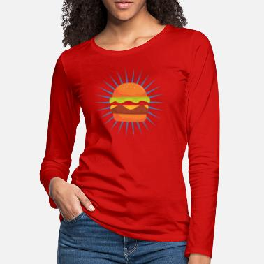 Burger Sandwich Fast Food Cheeseburger - Women's Premium Longsleeve Shirt