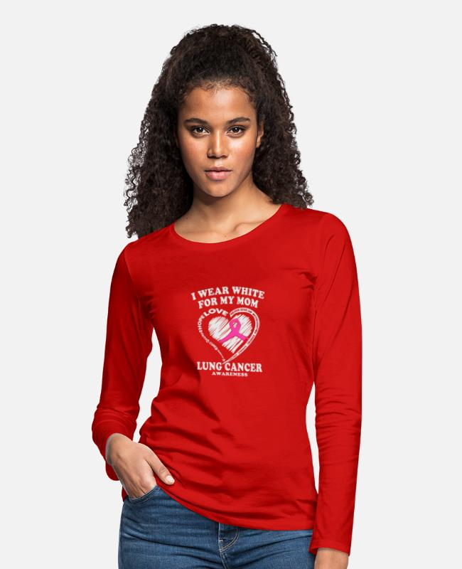 Nature Long-Sleeved Shirts - New Design I Wear White For My Mom Makes a great - Women's Premium Longsleeve Shirt red