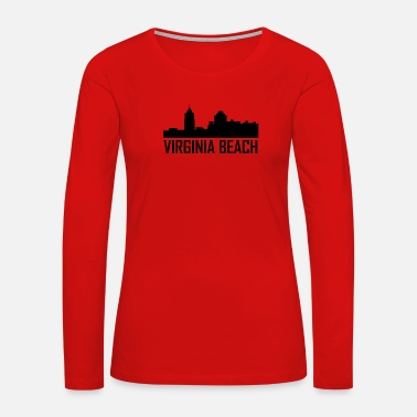 Virginia Virginia Beach Virginia City Skyline - Women's Premium Long Sleeve T-Shirt