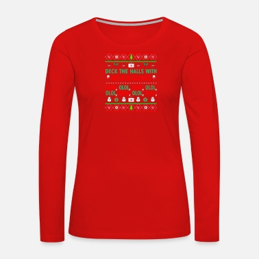 Deck Awesome DECK THE HALLS WITH BETA BLOCKERS Art - Women's Premium Long Sleeve T-Shirt