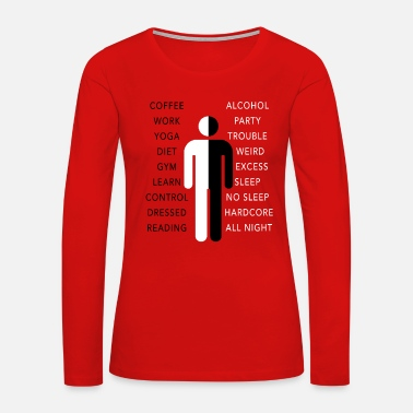Mister WEEKEND WORKAHOLIC FUNNY QUOTE GIFT IDEA TWO SIDES - Women's Premium Long Sleeve T-Shirt