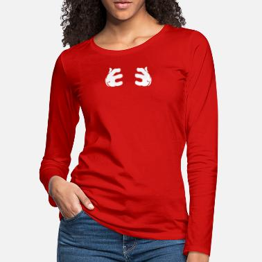 271a9f4f1fb Mickey Mouse Hands Funny Funny Mickey Mouse Cartoon Hands Grabbing Breasts  - Women'. Women's Premium Longsleeve Shirt
