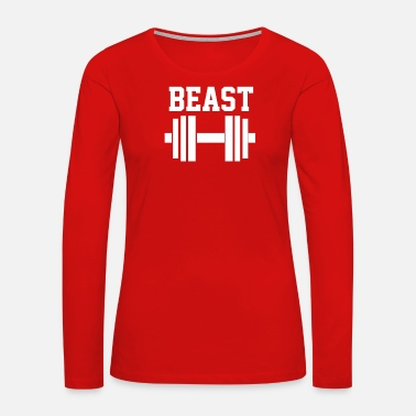 Muscle NEW BEAST DUMBBELL MUSCLE - Women's Premium Long Sleeve T-Shirt