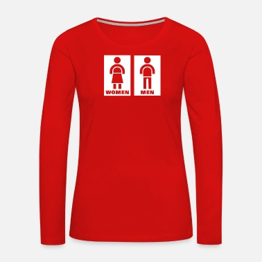 Restroom Restroom Sign - Women's Premium Long Sleeve T-Shirt