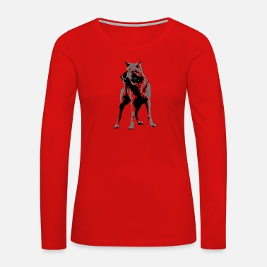 Sporty Sporty Wolf - Women's Premium Long Sleeve T-Shirt