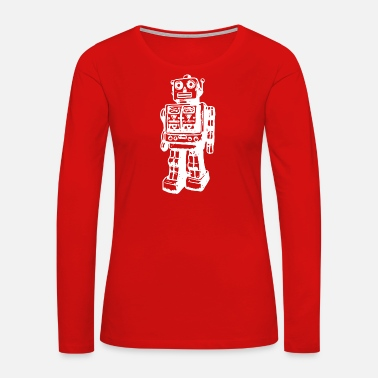 Gildan Huge Robot T shirt gildan 1 - Women's Premium Long Sleeve T-Shirt