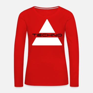 Black Techno - Women's Premium Long Sleeve T-Shirt