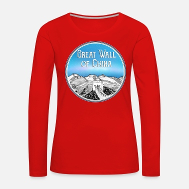 Wall The Great Wall of China - Women's Premium Long Sleeve T-Shirt