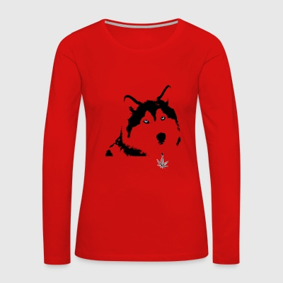 wolf and weed - Women's Premium Long Sleeve T-Shirt