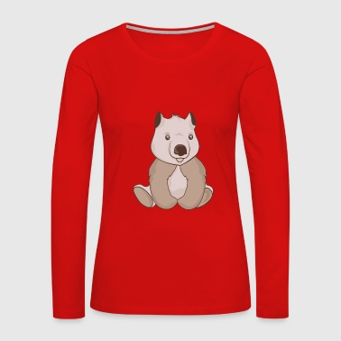 Chubby little wombat - Women's Premium Long Sleeve T-Shirt