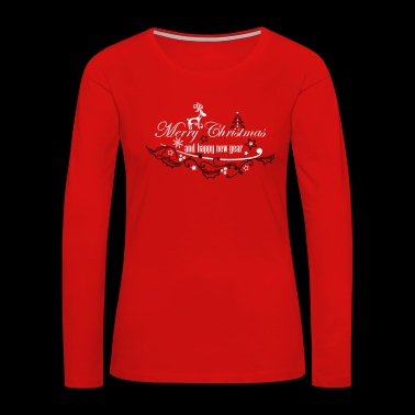 Merry Christmas with reindeer - Women's Premium Long Sleeve T-Shirt