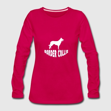 Border Collie Silhouette - Women's Premium Long Sleeve T-Shirt