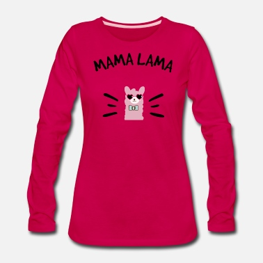 Sixpack Mama Lama black - Women's Premium Long Sleeve T-Shirt