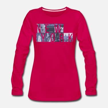 New York City New York Cubes - Women's Premium Longsleeve Shirt