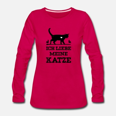Heart Eyes I love my cat - black - Women's Premium Long Sleeve T-Shirt