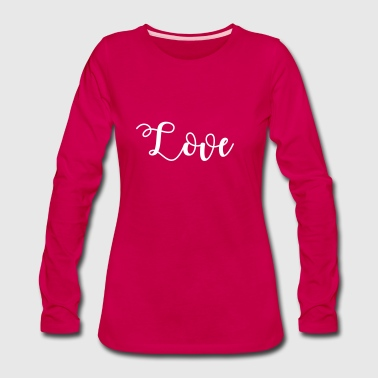 Love, Valentine's Day, Romance, Vintage - Women's Premium Long Sleeve T-Shirt
