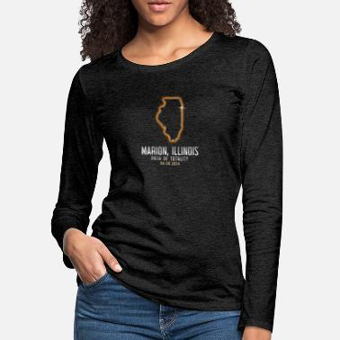 Solar Eclipse Marion Illinois Path Of Totality 4.8.24 Eclipse - Women's Premium Longsleeve Shirt