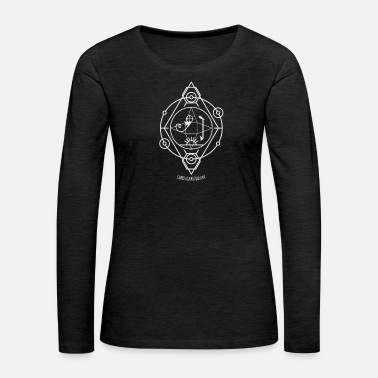 Yin-yang Protection from bad luck - Old seal, talisman - Women's Premium Long Sleeve T-Shirt