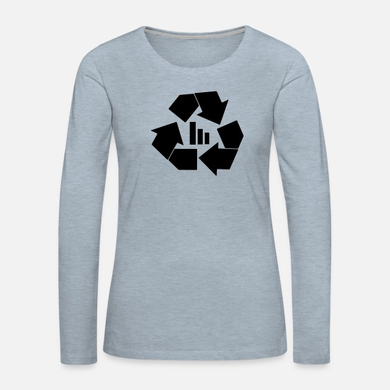 Mc Long-Sleeve Shirts - recycle bars - Women's Premium Longsleeve Shirt heather ice blue
