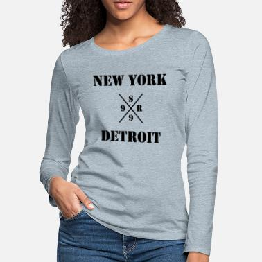 Detroit Vs Everybody shady new york vs detroit - xsr99 - Women's Premium Longsleeve Shirt