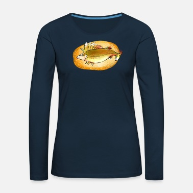 Happy River Fish Happy River Fish Ruff Fishing Gift Fisherman - Women's Premium Longsleeve Shirt