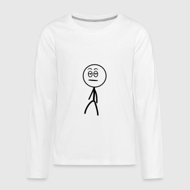 Annoyed Stickman - Kids' Premium Long Sleeve T-Shirt