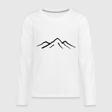Mountain, Mountains - Kids' Premium Long Sleeve T-Shirt