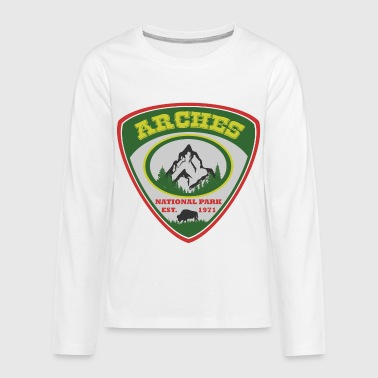 arches 19019021.PNG.png - Kids' Premium Long Sleeve T-Shirt