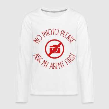 Public Agent No Photo please - Kids' Premium Long Sleeve T-Shirt