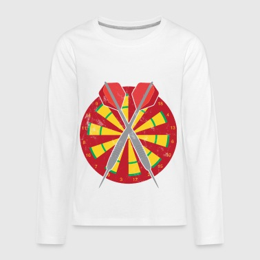Arrow Dartboard Dart - Arrows - Dartboard - Gift - Bullseye - Kids' Premium Long Sleeve T-Shirt