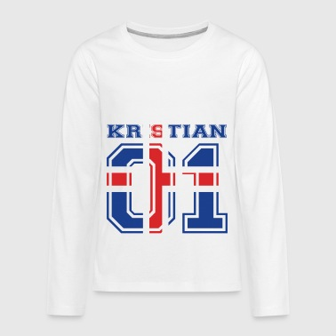 home wurzeln name iceland island KRISTIAN - Kids' Premium Long Sleeve T-Shirt