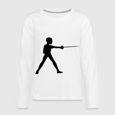 Fencing Fencer Sports - Kids' Premium Long Sleeve T-Shirt