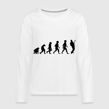 Evolution Electric Guitar Player Accoustic Bass - Kids' Premium Long Sleeve T-Shirt