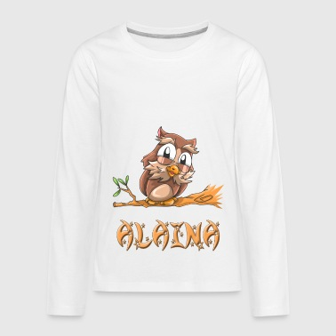 Alaina Alaina Owl - Kids' Premium Long Sleeve T-Shirt