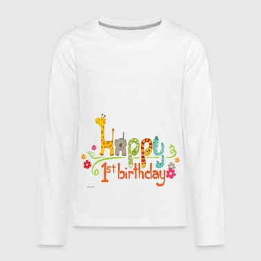 happy 1st birthday kids - Kids' Premium Long Sleeve T-Shirt