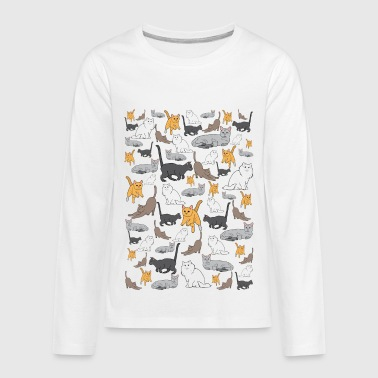 Cat Pattern Cat Pattern - Kids' Premium Long Sleeve T-Shirt
