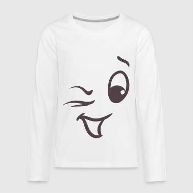 Winking face - Kids' Premium Long Sleeve T-Shirt