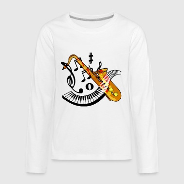 Saxophone - Kids' Premium Long Sleeve T-Shirt