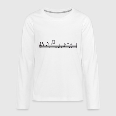 Notes - Kids' Premium Long Sleeve T-Shirt