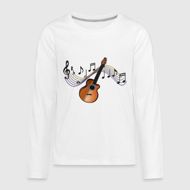 Acoustic Guitar - Kids' Premium Long Sleeve T-Shirt