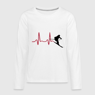 Skier & Heartbeat, Ski - Kids' Premium Long Sleeve T-Shirt