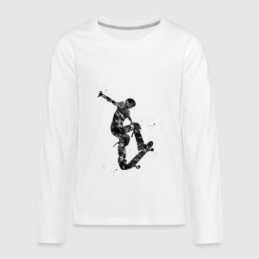 Skateboarder, Skateboard - Kids' Premium Long Sleeve T-Shirt