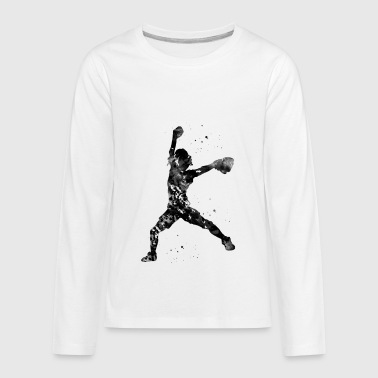 Baseball Softball Pitcher - Kids' Premium Long Sleeve T-Shirt