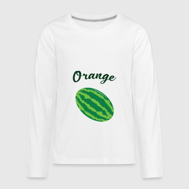 Orange Juice Jokes Hilarious Orange - Kids' Premium Long Sleeve T-Shirt