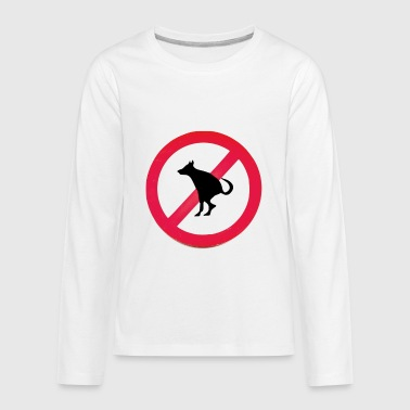 No Dog Poop - Kids' Premium Long Sleeve T-Shirt