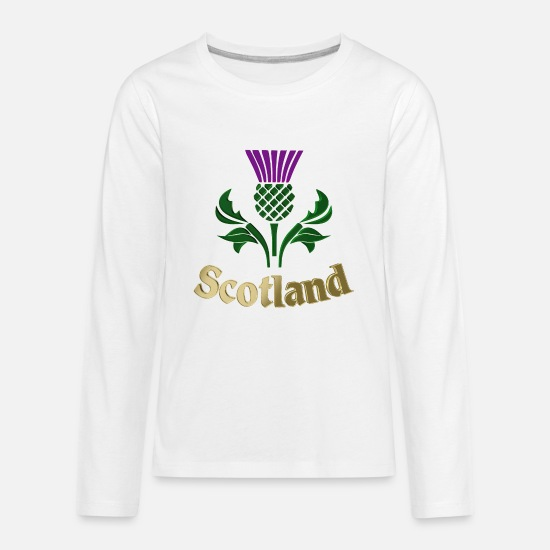 ee1668f53 Scottish emblem thistle Kids' Premium Longsleeve Shirt | Spreadshirt